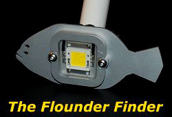 led flounder gigging lights, led underwater lights and gigging, Reel Combo