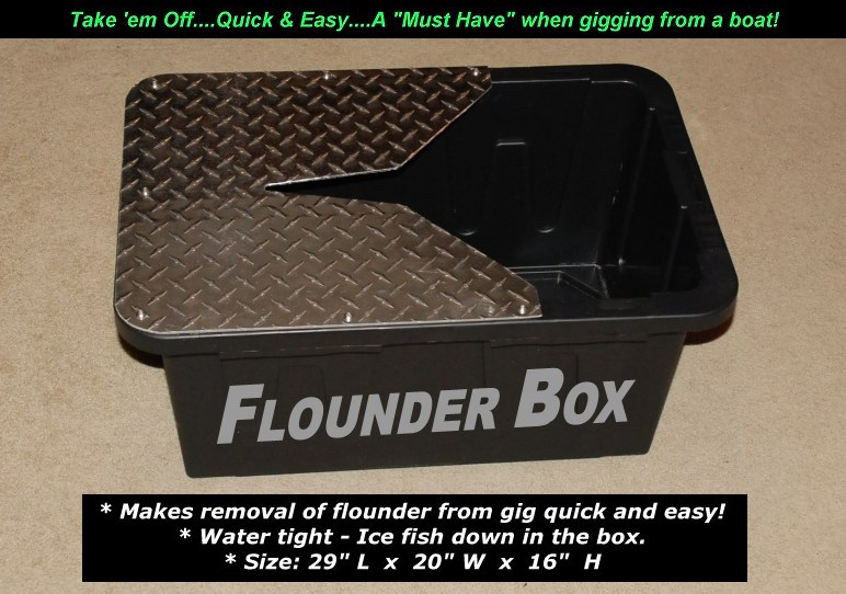 flounder removal box, flounder gigging, gigs and lights, led, Reel Combo