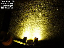 Dual Lamp CREE underwater flounder light
